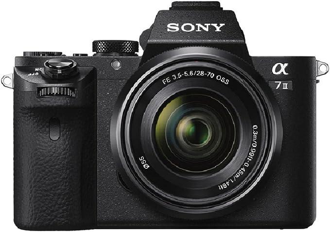 Sony ILCE-7M2K Appareil Photo Numérique Hybride, Capteur Plein Format Full Frame 35 mm, 24,3 Mpix, Stabilisation 5 Axes + Objectif 28-70 mm