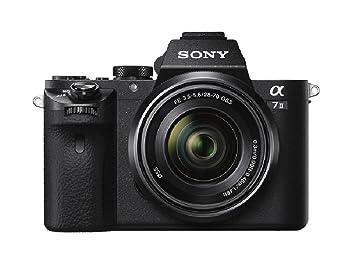 Sony ILCE-7M2K Appareil Photo Numérique Hybride, Capteur Plein Format 35 mm, 24,3 Mpix, Stabilisation 5 axes + Objectif 28-70 mm