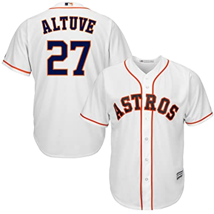 c6a0f8397 Outerstuff Jose Altuve Houston Astros MLB Majestic Kids 4-7 White Home Cool  Base Player