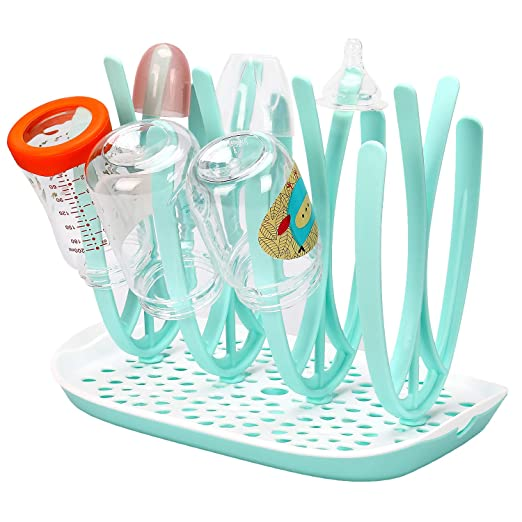 Amazon.com: Botella rack de secado secador de y plato BFA ...