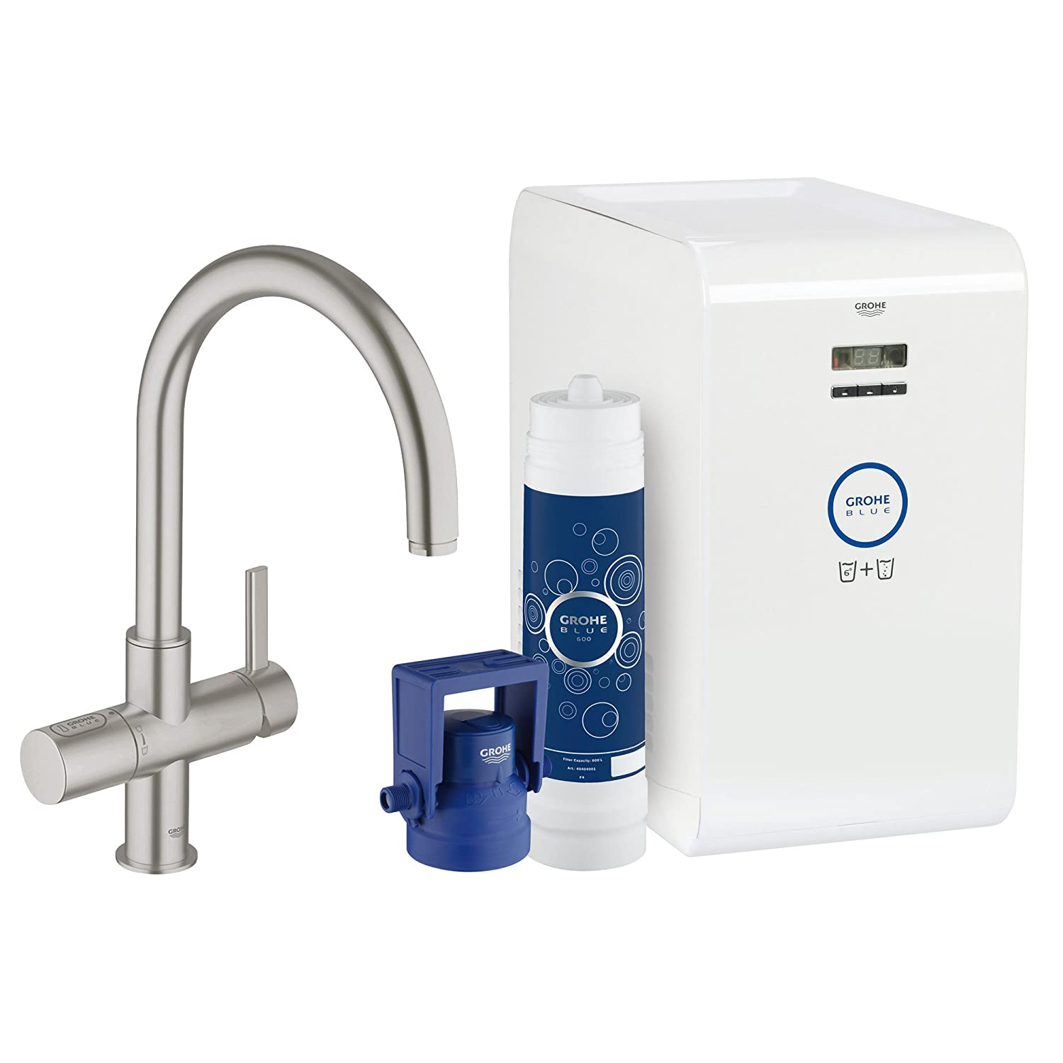 Grohe Blue Chilled And Sparkling 2-Handle Faucet and Water System ...