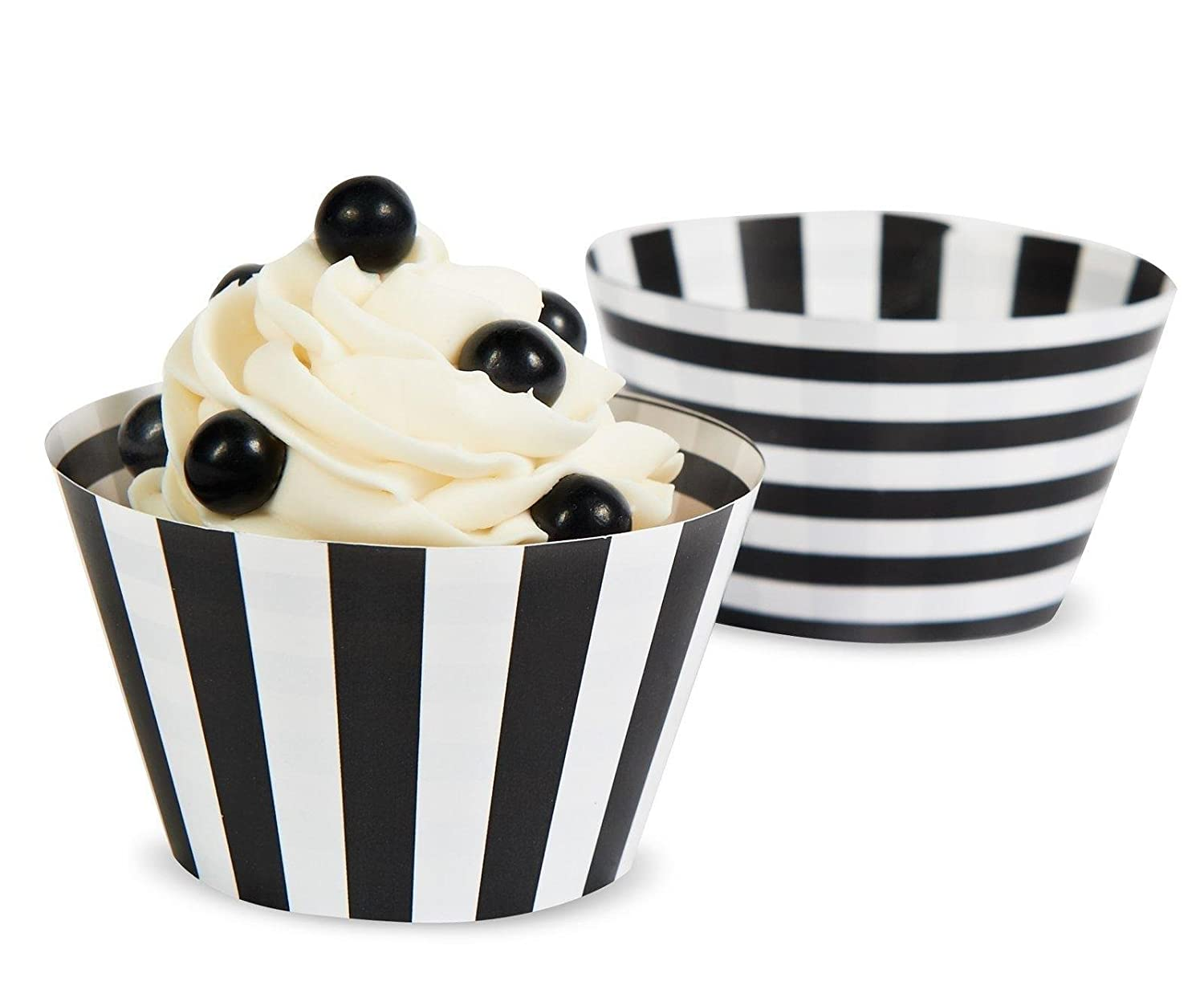 black & white baking cups for Football Party by BellaGrey Designs