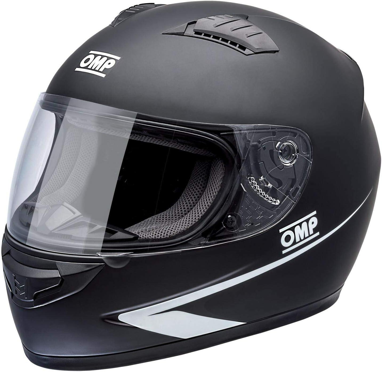 OMP CIRCUIT HELMET MATT BLACK SIZE XL
