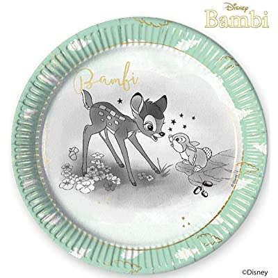 Disney Bambi 78387 Plates, Mint: Toys & Games