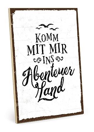 Holzschild Mit Spruch Verstand Tanzt Herz Atmet Augen Lieben