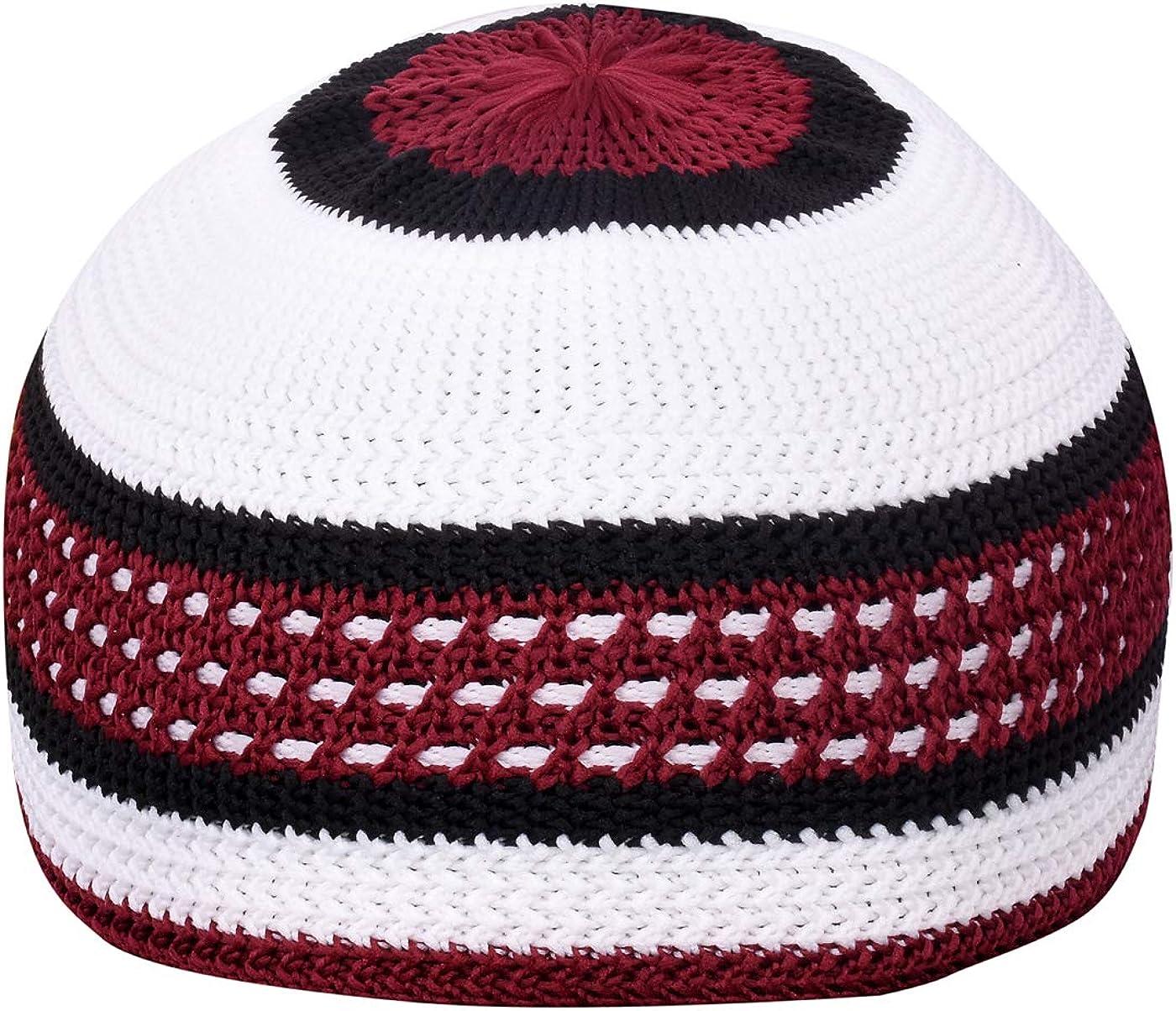 Manaal Enterprises Islamic Skull Beanies Men/'s Muslim Islamic Koofi Prayer Namaz Topi Skull Kufi Cap Blend Cotton Hat Size 21,22,23 Inches Stretchable Also can wear
