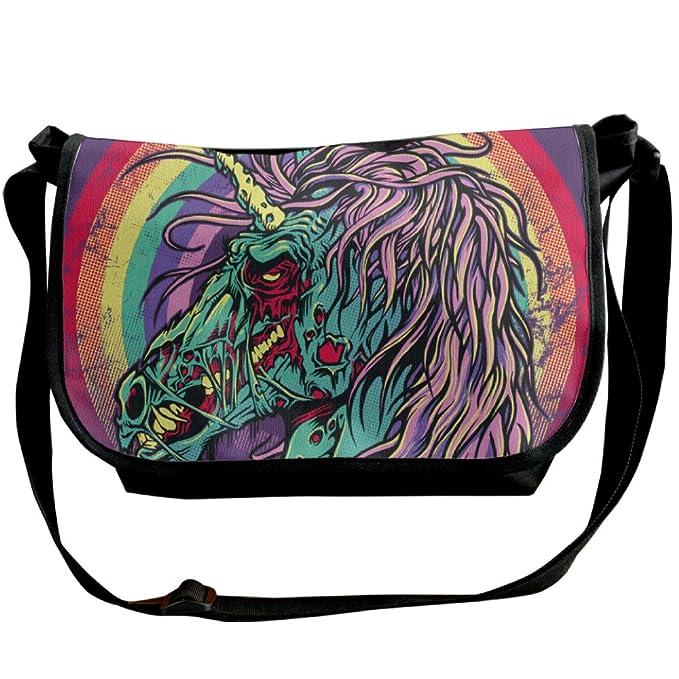 8ca113501150 Zombie Unicorn Retro Astronaut Shoulder Bag Crossbody Messenger Tote Casual  Adjustable Strap Sling Postman Bags