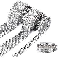 4 rollen zelfklevende kristallen strasssteentjes, strassband, strasssteentjes voor bruiloft, verjaardag, kunstwerken…