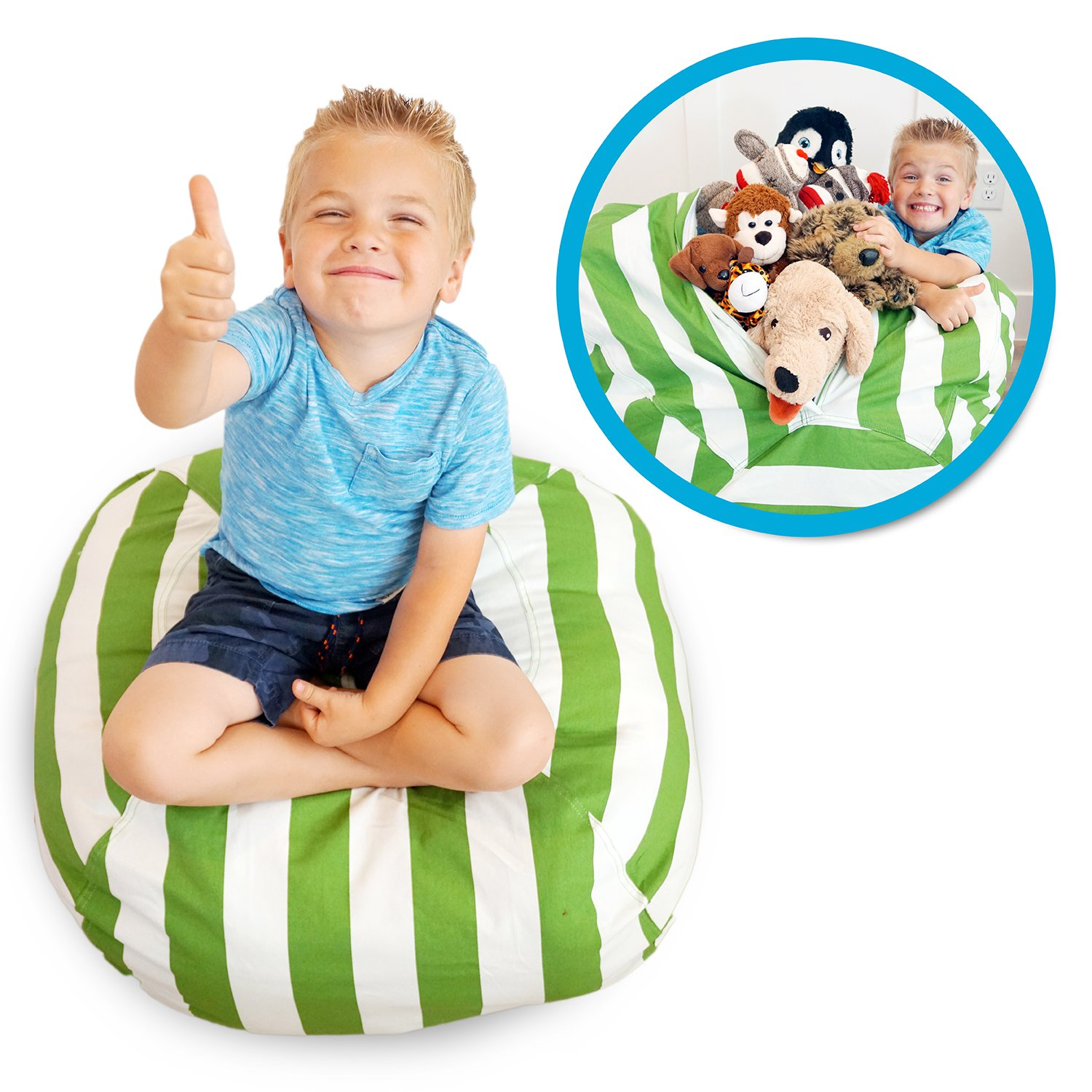 Soothing Company Stuffed Animal Bean Bag Chair for Kids - Extra Large Empty Beanbag