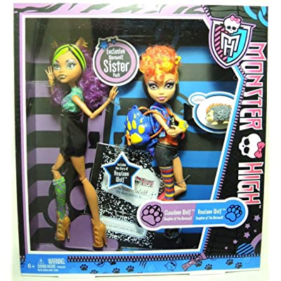 Monster High Wolf sisters Clawdeen and Howleen Wolf: Toys & Games