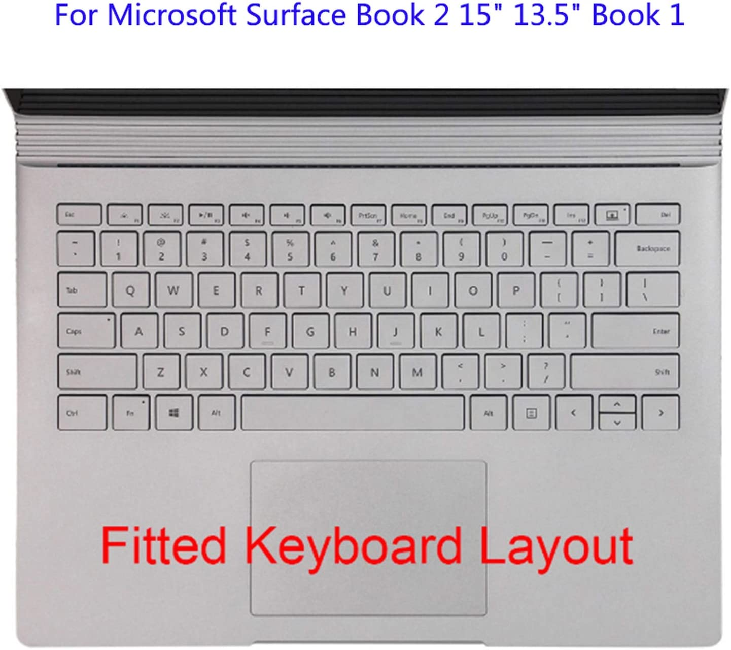Silicone Keyboard Cover for Microsoft Surface Laptop 2 1 Soft Keyboard Skin Protector Film for Surface Book 2 1 New Pro 6 5 4-for Laptop 2 11