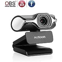 Full HD Webcam 1080p LifeCam USB Cam Breitbild Videoanrufen und Aufnahmen Support Facebook YouTube Streaming, Kompatibel für MAC OS Windows 10/8/7