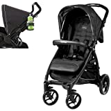 Peg Perego Booklet w Stroller Cup Holder in Charcoal (Onyx)