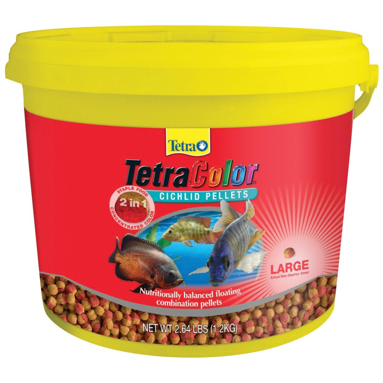 Amazon.com: Tetra 77269 TetraColor 2-in-1 Large Cichlid Pellets ...