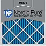 Nordic Pure 12x12x1M7-6 MERV 7 Pleated AC Furnace Air Filter, 12x12x1, Box of 6