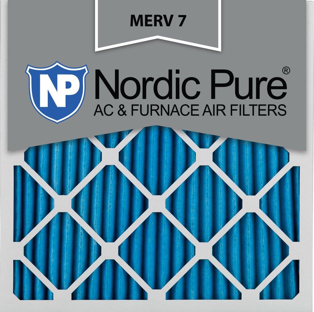 Nordic Pure 12x12x1M7-6 MERV 7 Pleated AC Furnace Air Filter, 12x12x1, Box of 6