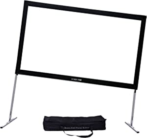 Projector Screen with Stand 144inch, SCREENPRO Portable Fast-Folding Projector Screen with (Max 20.7