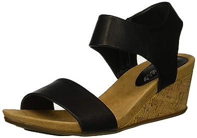 1aeecac3a03 Skechers Women s Cool Step-Ankle Strap Slide Fashion Casual Wedge Heeled  Sandal