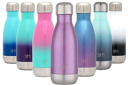 Simple Modern Wave 250ml Termo Botella de Agua Niños Acero Inoxidable, Botella termica sin BPA Mantiene el Temperatura Aislada al Vacío Doble Pared ...