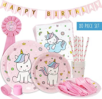 Amazon Com Unicorn Baby Shower Decorations Party Pack Set For An