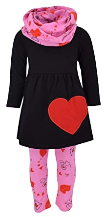 Amazon Com Unique Baby Girls Valentine S Day Love Letters Outfit