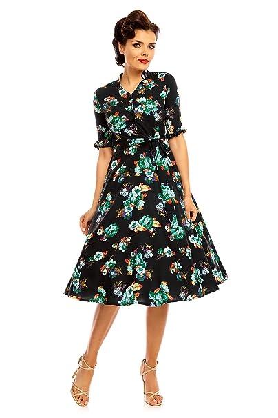 487cd653839f Looking Glam Vestido Inspirado en Camisas de los años 40 para Damas ...