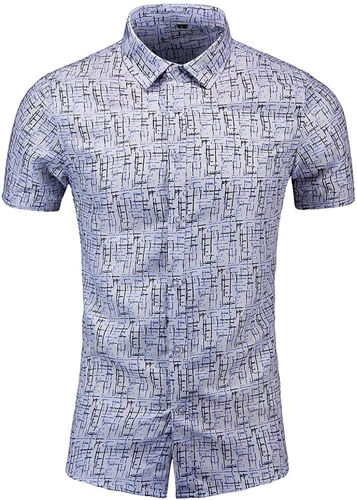 Sylar Camisa Hombre Verano Manga Corta Camisa Hawaiana Casual Estampado Blusas de Hombres Slim fit Camisas de Playa T-Shirt Camisetas M: Amazon.es: Ropa y accesorios