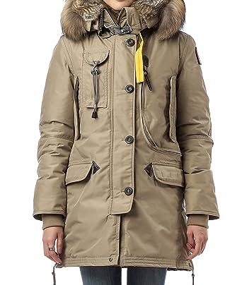 Wiberlux Parajumper Kodiak Women's Fuzzy Trim Hood Coat XS Dark Beige