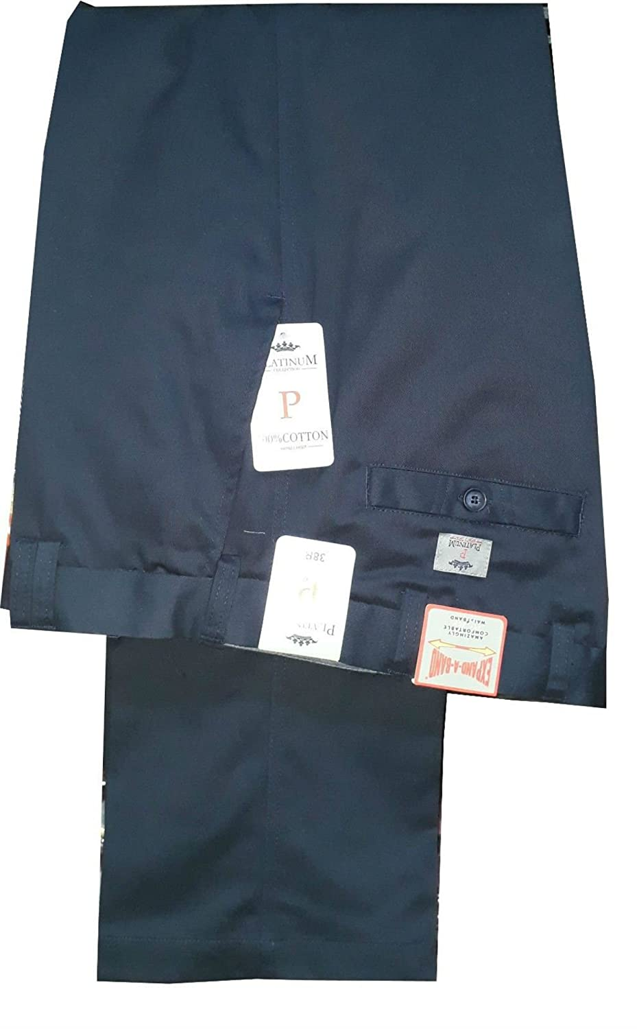 Carabou Mens Summer Chino Cotton Flexible Self Side Adjusting Expandable Waist Trousers Pants W32 to54 Length 29 /&31
