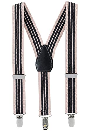 Hold/'Em Suspender for Kids Boy USA Made Polished Clip Genuine Leather Crosspatch Perfect for Tuxedo