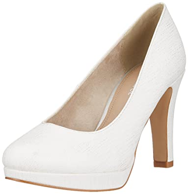 22410, Escarpins Femme, Blanc (White Struct.), 42 EUs.Oliver