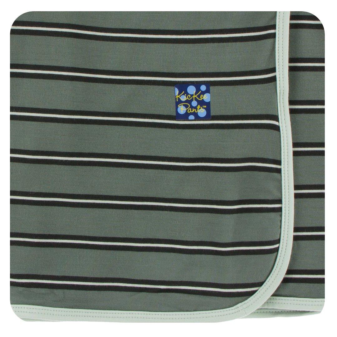 Kickee Pants Little Boys Print Swaddling Blanket - Succulent Kenya Stripe, One Size