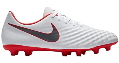 Nike Men s Obra 2 Club (FG) Firm Ground Soccer Cleat White Metallic Cool af03af47c