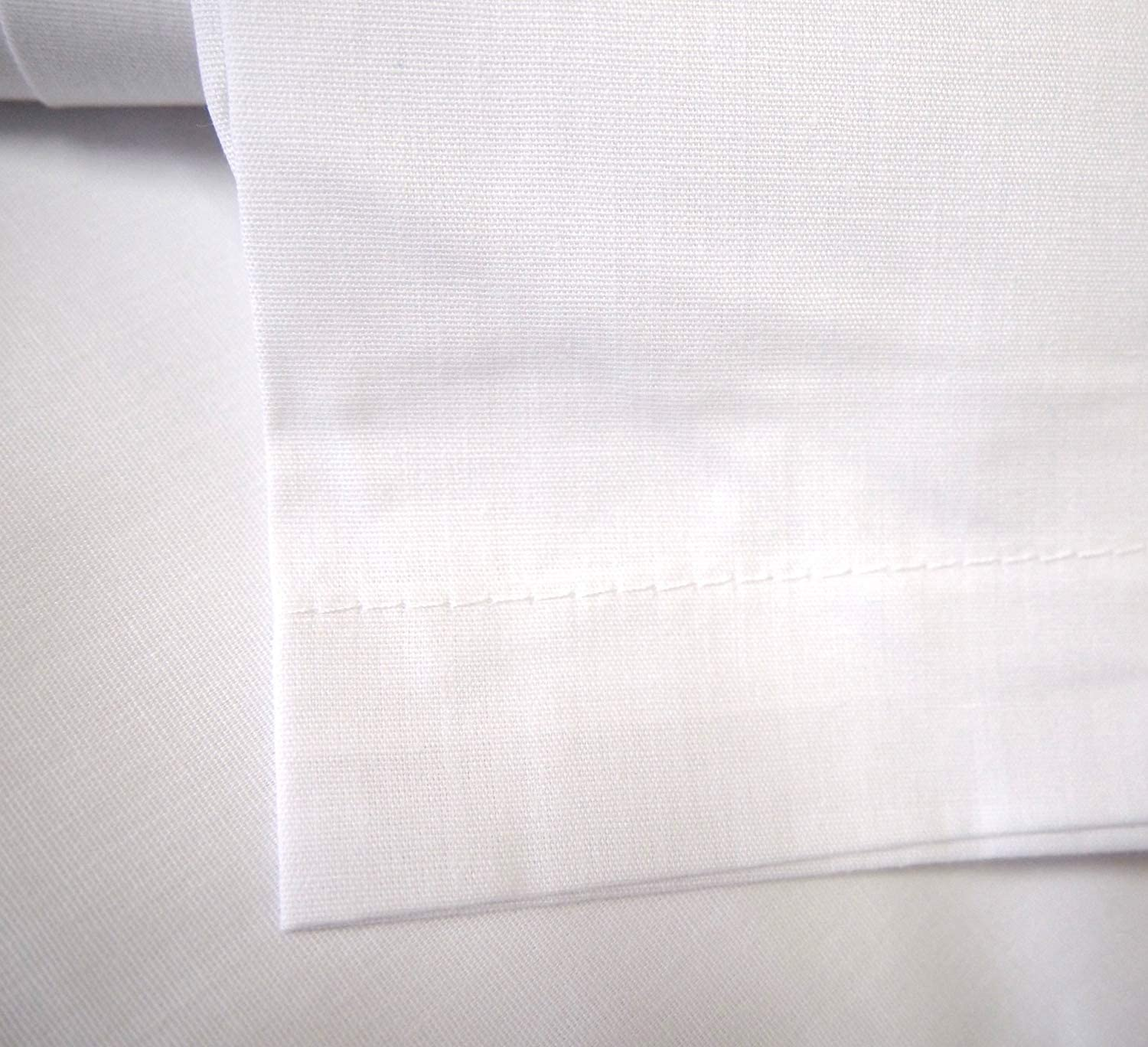 Linteum Textile 12-Pack, 66x104 in, White 180 Thread Count Twin Flat Sheets