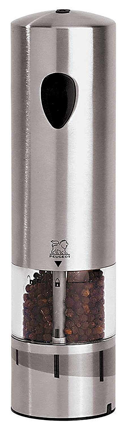 Peugeot Elis u Select Pepper Mill Electric Stainless Steel, 5.4 x 5.4 x 20 cm 42785R20