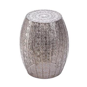 koehler home decor 15138 1475 inch decorative moroccan lace stool - Koehler Home Decor