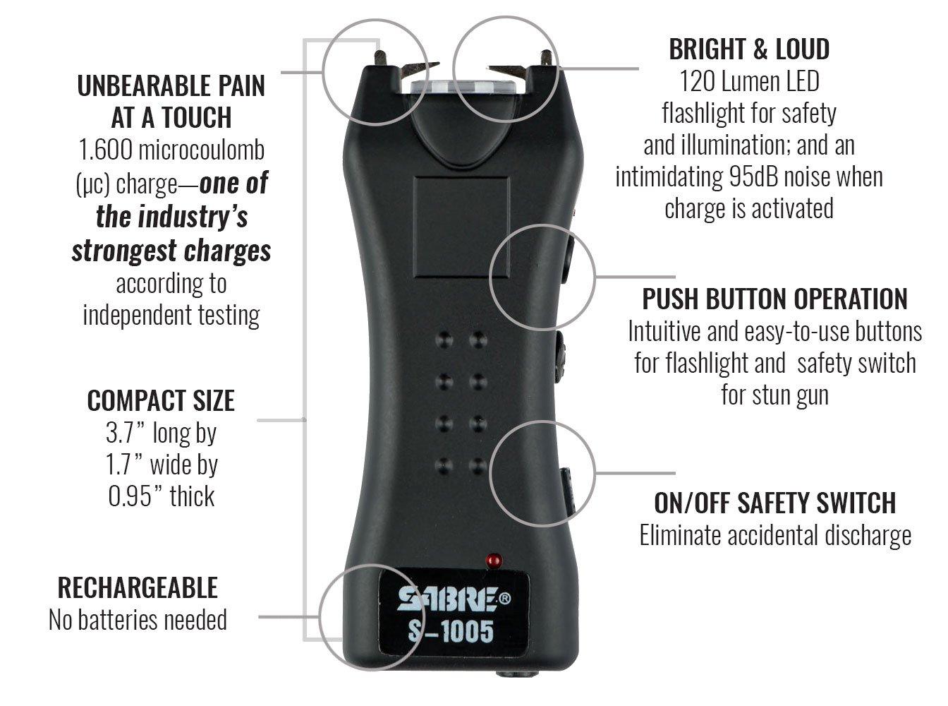 Amazon.com: SABRE Dual Capacitor Stun Gun & LED Flashlight– Delivers on stun gun circuit, usb cord wire diagram, stun gun parts list, stun gun remote control, stun gun schematic diagram,