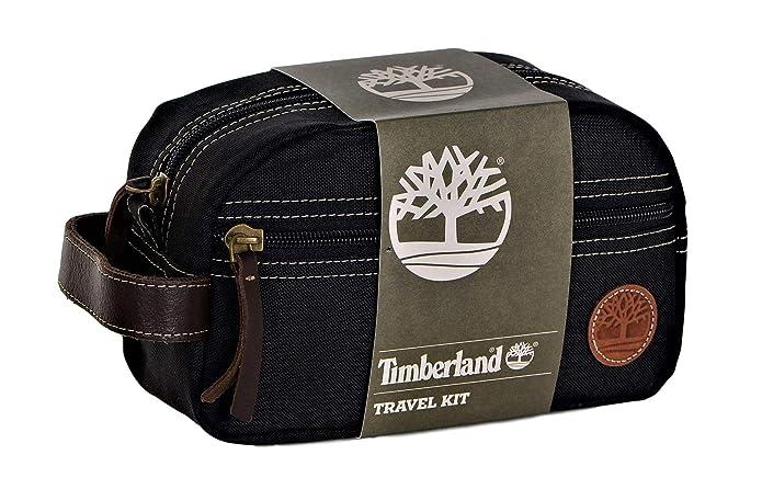 46b8310e90 Amazon.com: Timberland Men's Travel Kit Toiletry Bag Organizer, black, One  Size: Clothing
