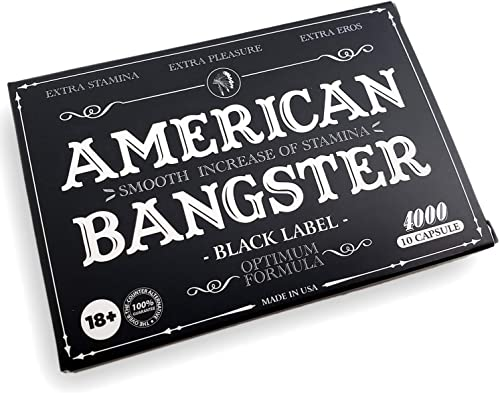 AMERICAN BANGSTER-Natural Male Enhancing Energy Booster Pill Increase Performance, Stamina, Endurance Fast Acting and Safe Black 10 Capsules