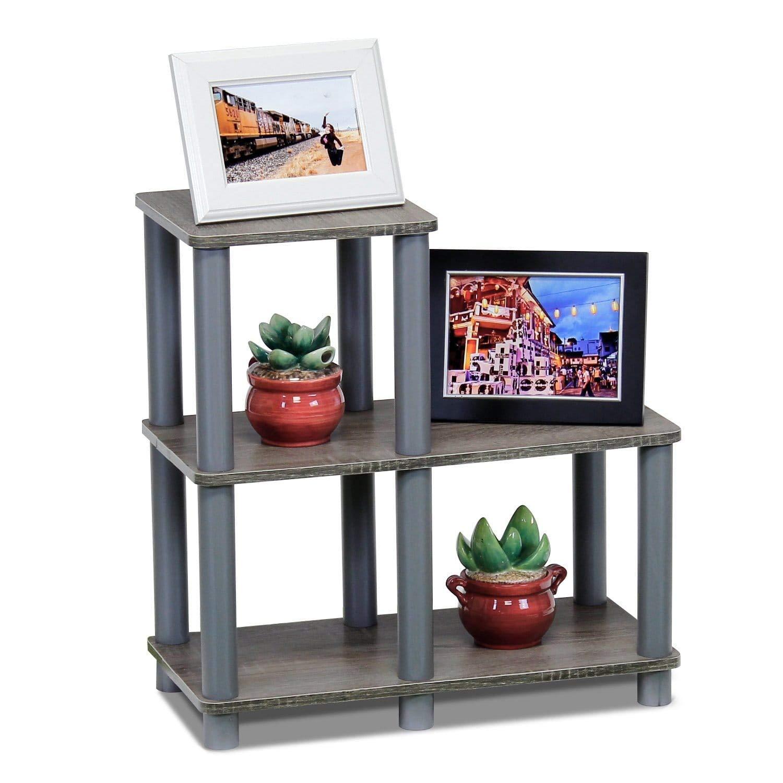 Espresso//Black Furinno 14032EX//BK Turn-N-Tube Accent Decorative Shelf