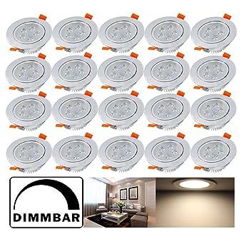 Hengda® 5W LED Einbauleuchten Dimmbar Einbauspots für Wohnraum decke ...