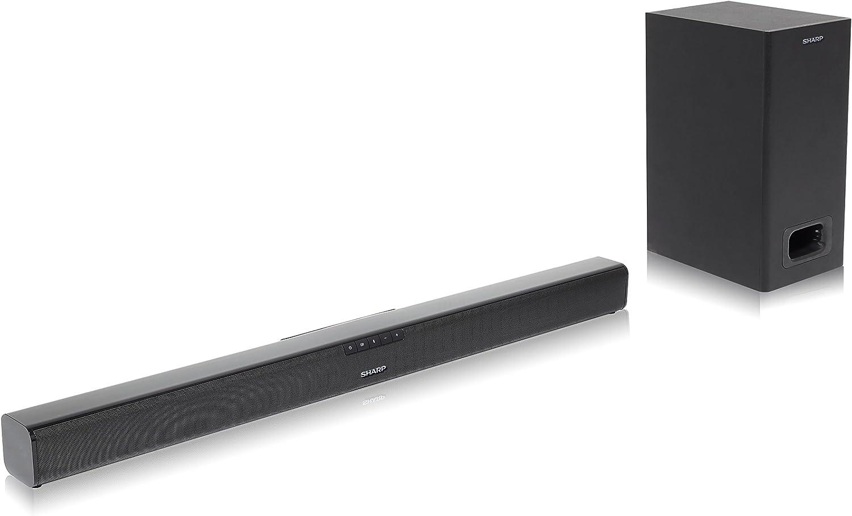 Sharp HT-SBW110 2.1 Slim - Barra de Sonido Cine en casa (Bluetooth, HDMI ARC/CEC, 180 W, Audio óptico Digital, AUX, 80 cm) Color Negro: Sharp: Amazon.es: Electrónica