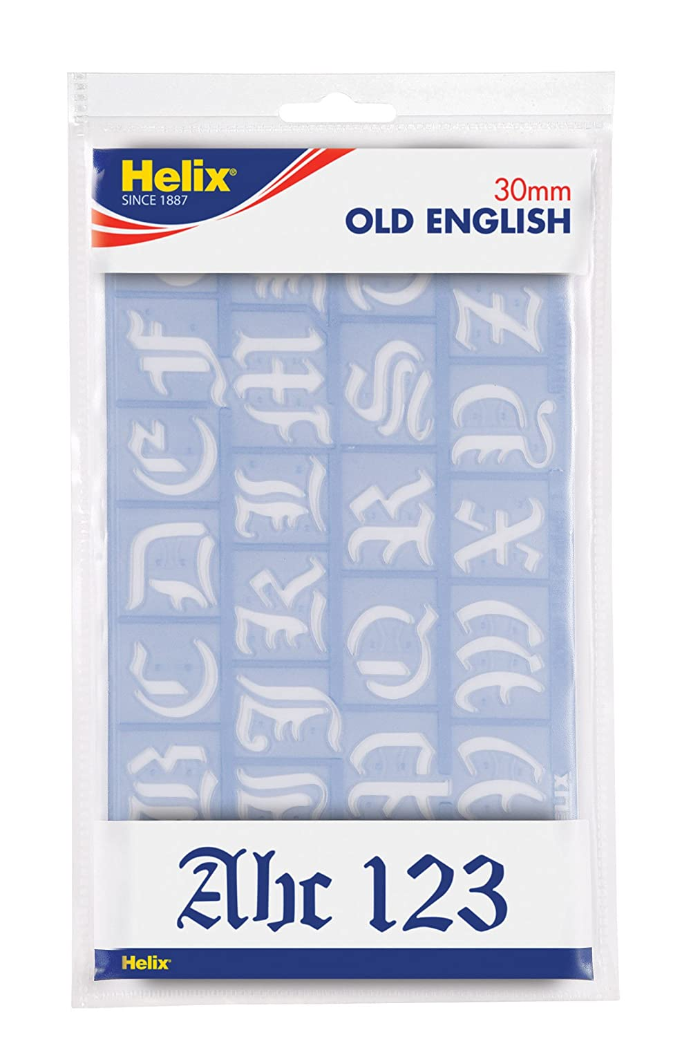 Helix 30mm 2 Piece Old English Stencil Set H28010