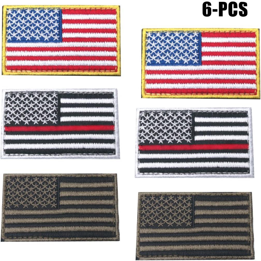 FunPa Estados Unidos Bandera Parche, 6PCS Parche De Velcro Color Surtido Bordado AméRica Parche para La Ropa del Bolso: Amazon.es: Hogar