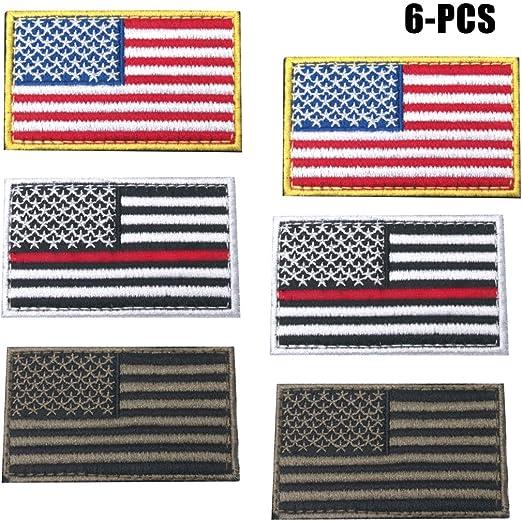 FunPa Estados Unidos Bandera Parche, 6PCS Parche De Velcro Color ...