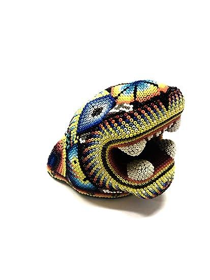 Amazon com: Serendipia Handmade Huichol Jaguar Beaded