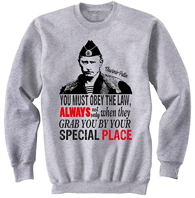 teesquare1st Putin You Must Obey The Law Gris Sudadera: Amazon.es: Ropa y accesorios