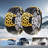 $30 » soyond Car Tire Snow Chains - Premium Quality Strong Durable All Season Anti-Skid Car, SUV,…