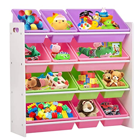 Etonnant Kids Toy Storage Organizer With Plastic Bins, Storage Box Shelf Drawer