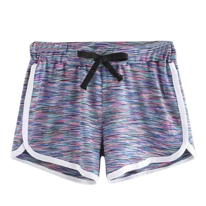 Cinnamou Pantalones Cortos Mujer Verano 2018 Pijama de Elástico Rayas de Dormir Pantalones Cortos Cómodo Casual